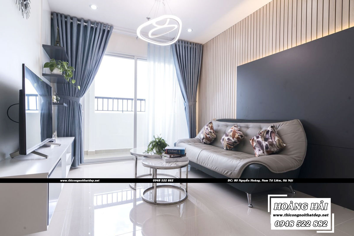Thiết kế nội thất phòng khách chung cư CityLand Park Hills