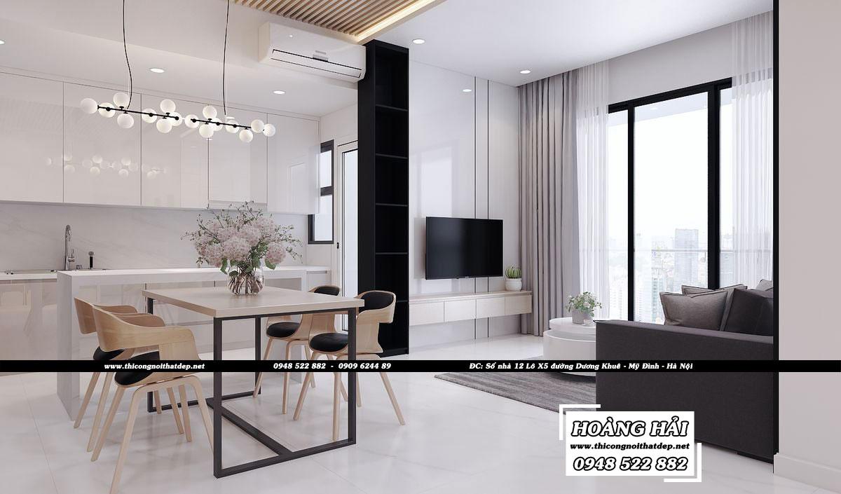Dự án thiết kế nội thất phòng khách căn hộ chung cư Estella Heights 82m2 - Anh Tiến