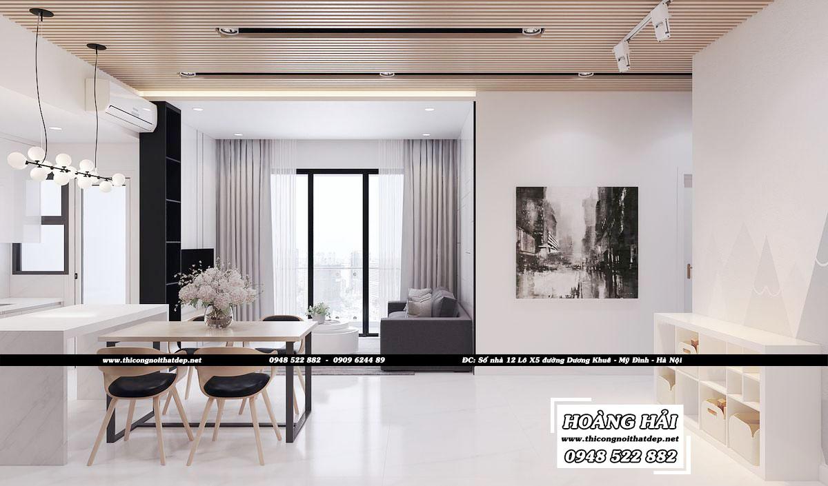 Dự án thiết kế nội thất phòng ăn căn hộ chung cư Estella Heights 82m2 - Anh Tiến
