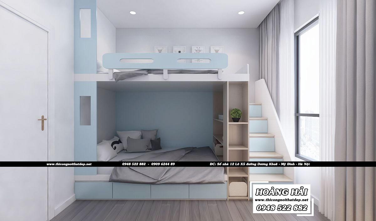Dự án thiết kế nội thất phòng ngủ căn hộ chung cư Estella Heights 82m2 - Anh Tiến