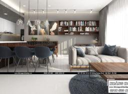 Dự án thiết kế nội thất chung cư cao cấp Millennium 100m2 – Chị Lan