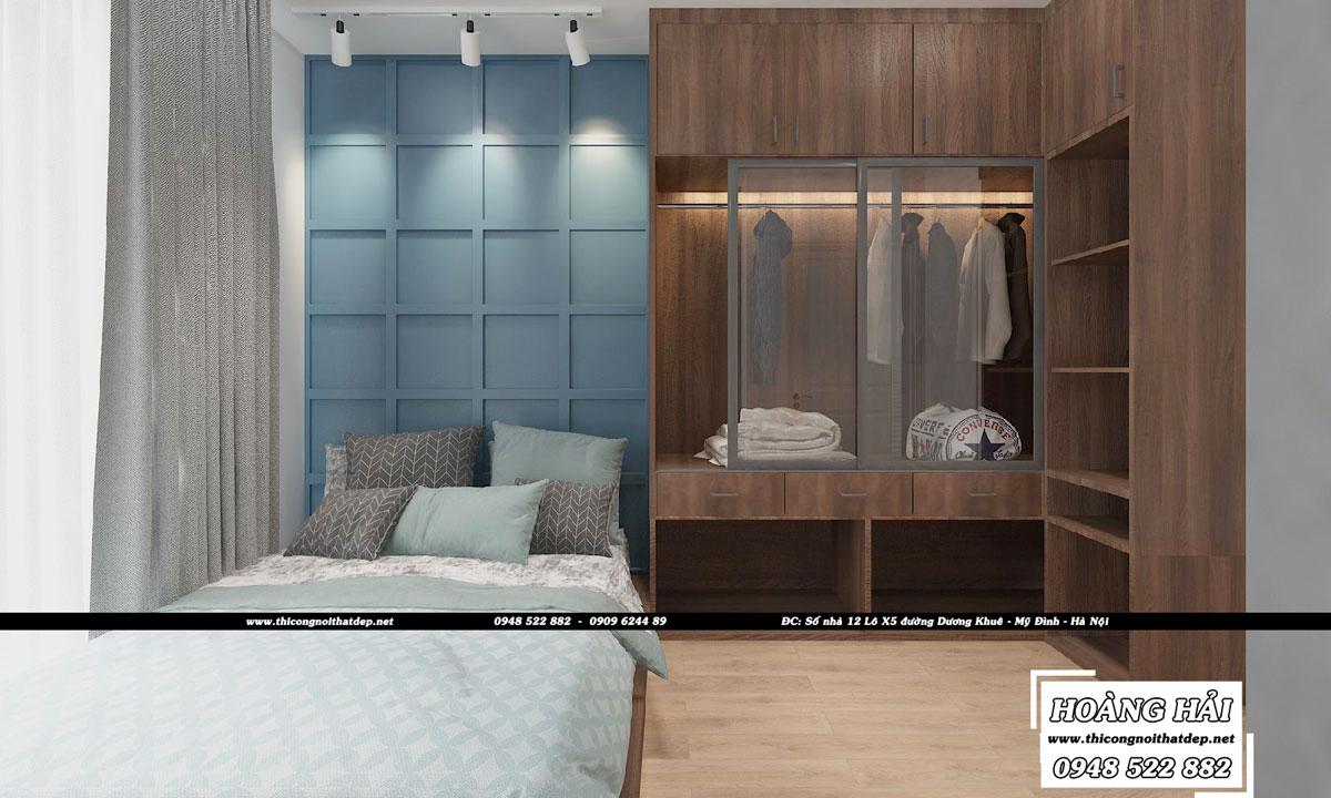 Dự án thiết kế nội thất phòng ngủ chung cư cao cấp Millennium 100m2 - Chị Lan