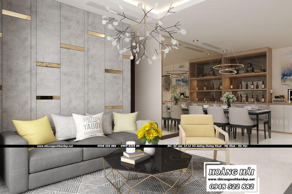 Dự án thiết kế nội thất căn hộ chung cư Vinhomes Central Park 100m2 – Anh Nam