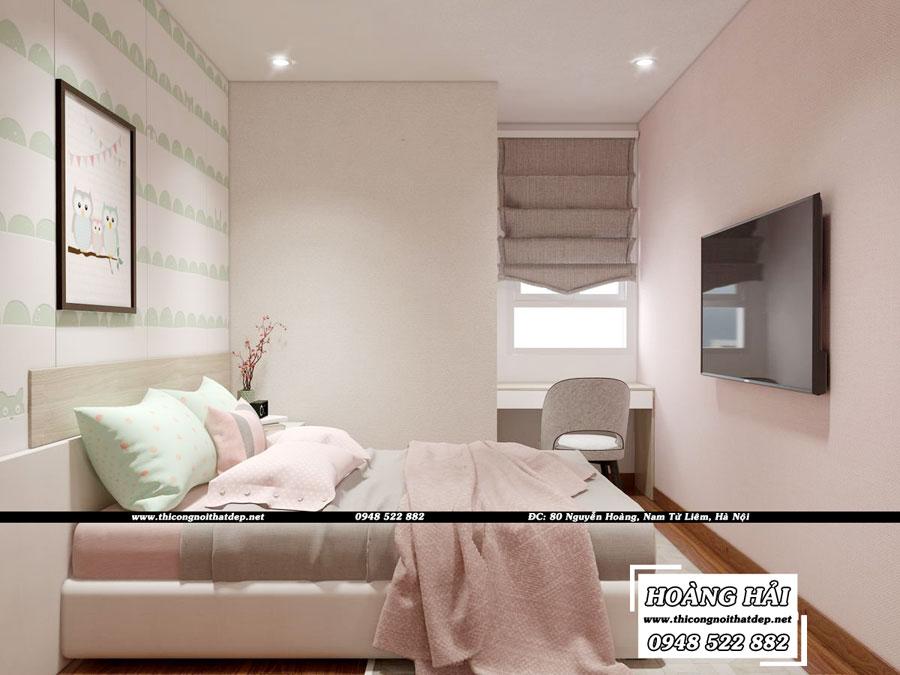 dự án thiết kế nội thất phòng ngủ bé gái chung cư Melody Residences