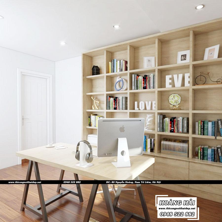dự án thiết kế nội thất phòng làm việc chung cư Melody Residences