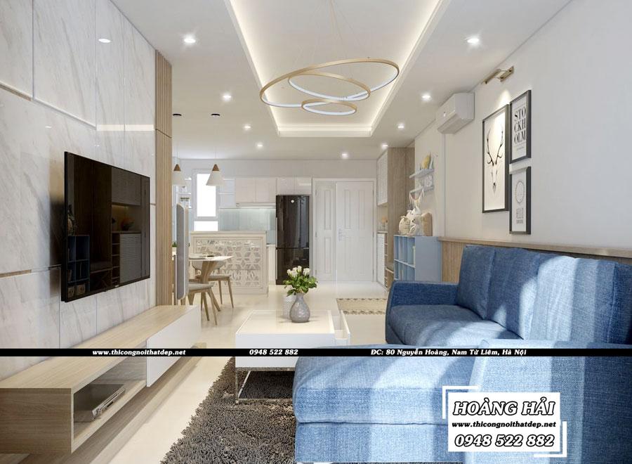 dự án thiết kế nội thất phòng khách chung cư Melody Residences