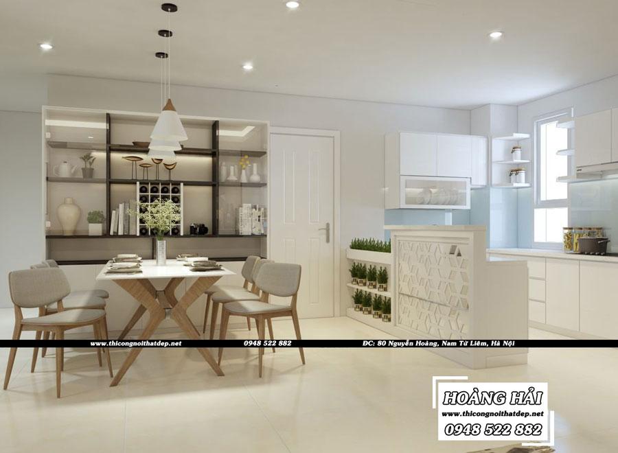 dự án thiết kế nội thất phòng ăn chung cư Melody Residences