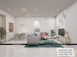 Dự án thiết kế nội thất chung cư Oriental diện tích 70m2 – Cô Hiền