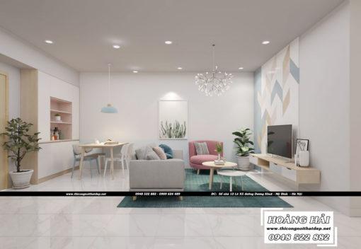 mẫuthiết kế nội thất chung cư Oriental diện tích 70m2