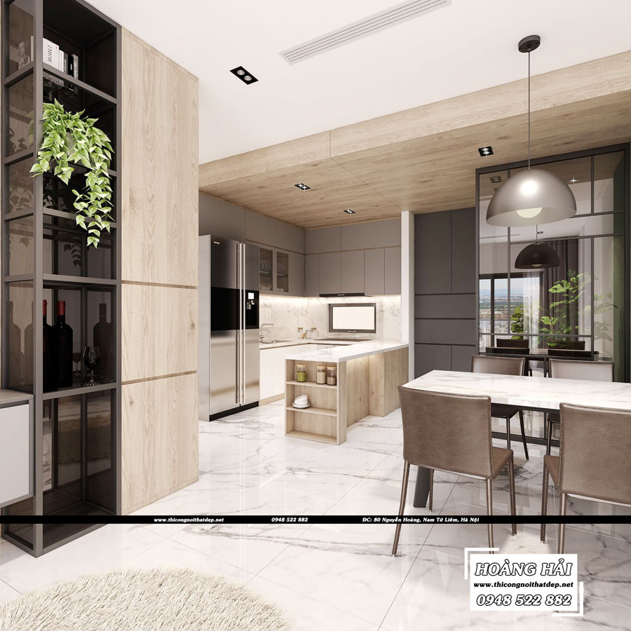 dự án thiết kế nội thất phòng bếp căn hộ chung cư Wilton Tower - Anh Khang