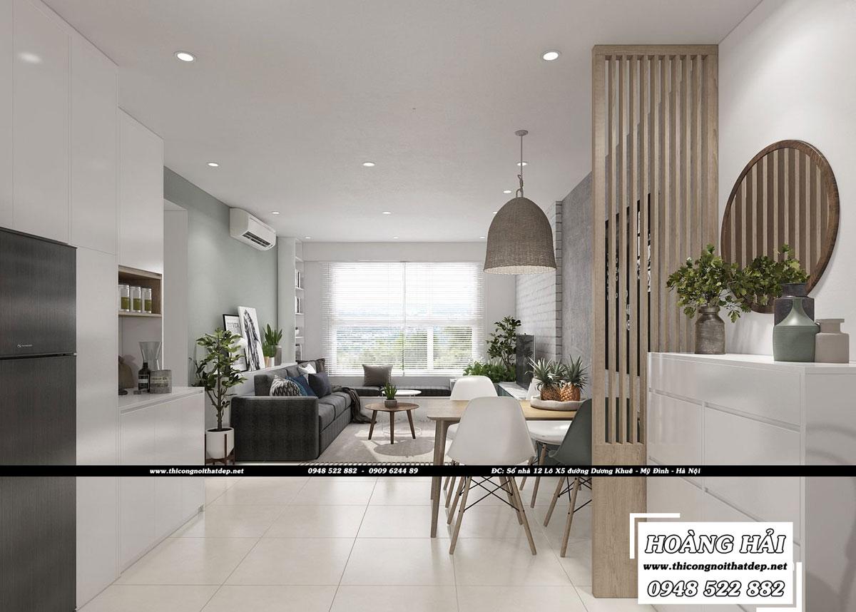 Dự án thiết kế nội thất phòng ăn chung cư CityHome 66m2