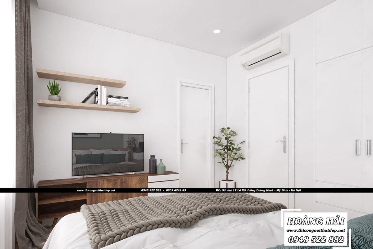 Dự án thiết kế nội thất phòng ngủ chung cư CityHome 66m2