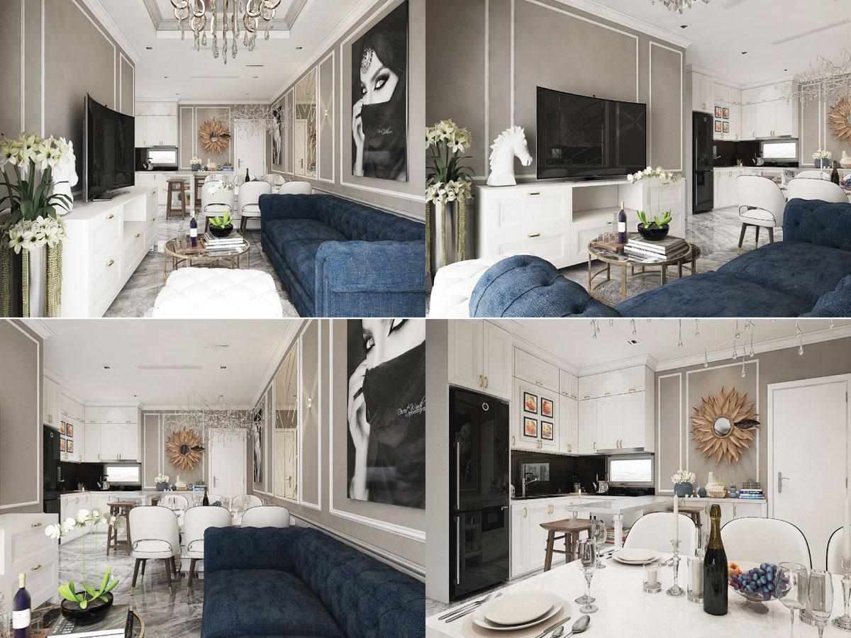 Dự án thiết kế nội thất căn hộ chung cư Wilton Tower 92m2 - Anh Bình