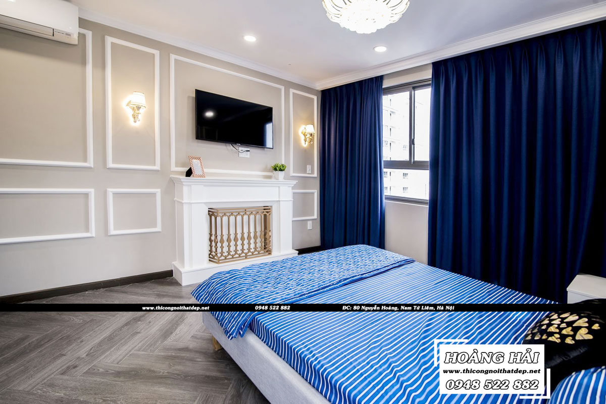 thiết kế nội thất phòng ngủ căn hộ chung cư Wilton Tower 92m2