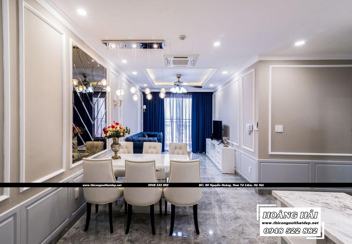 thiết kế nội thất phòng khách căn hộ chung cư Wilton Tower 92m2
