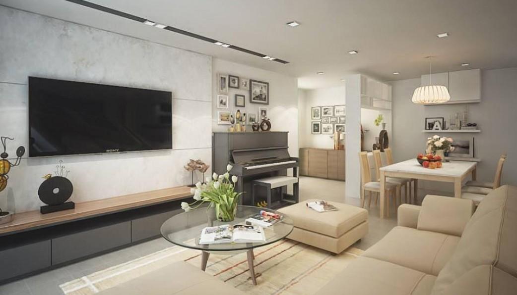 Mẫu nội thất phòng khách chung cưSunshine Avenue
