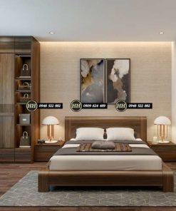 Giường Ngủ Gỗ Óc Chó Mẫu 011
