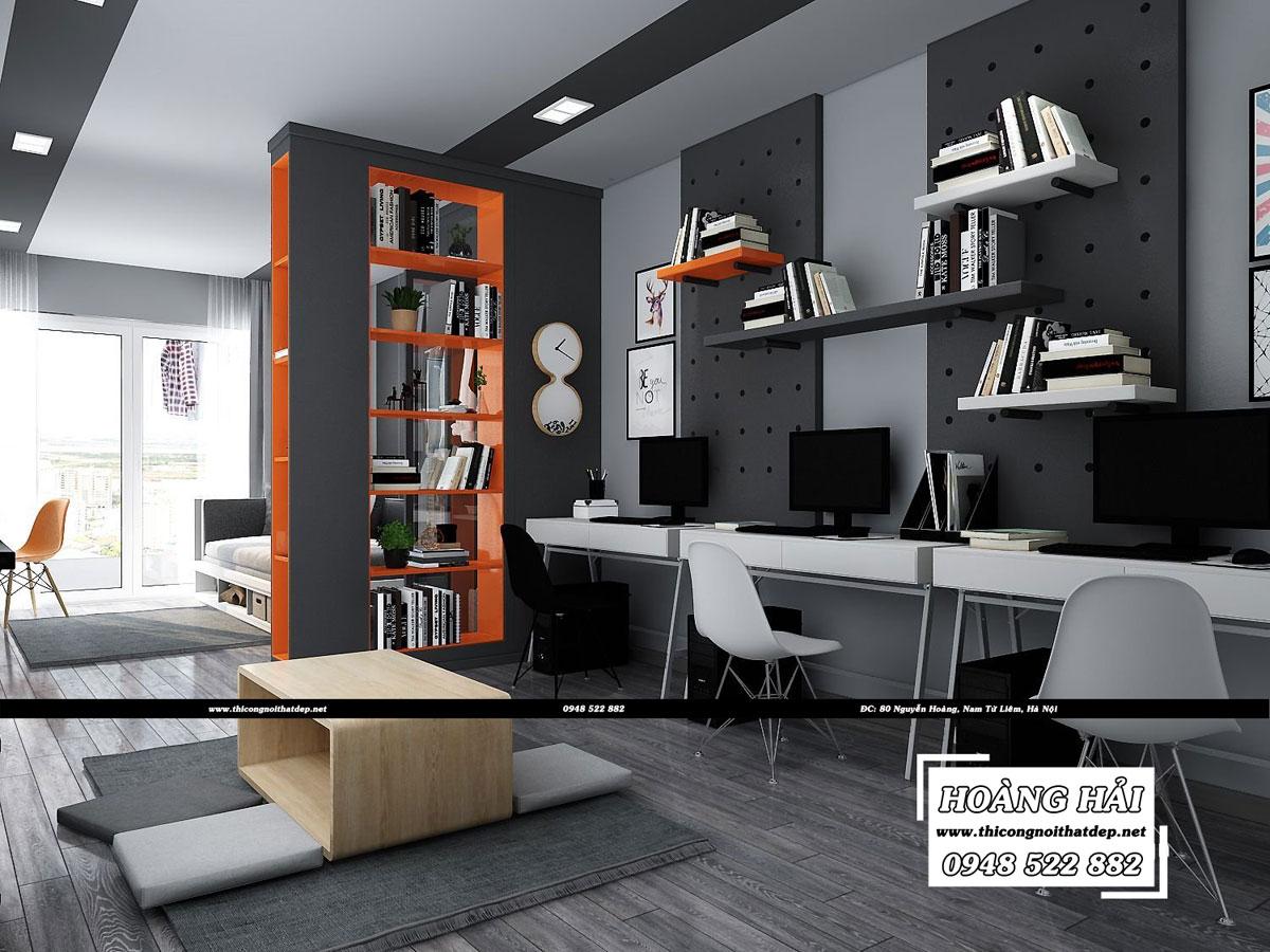 Mẫu dự án thiết kế nội thất chung cư Sky Center 83m2 - Anh Long