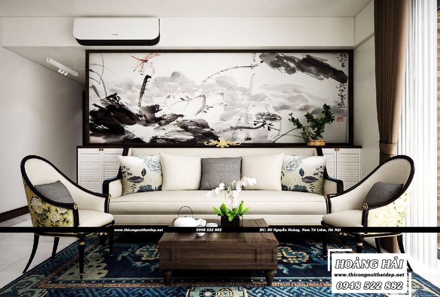 Thiết kế nội thất phòng khách chung cư Vista Verde 90m2
