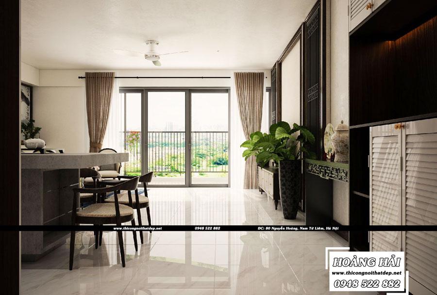 Phòng khách chung cư Vista Verde 90m2