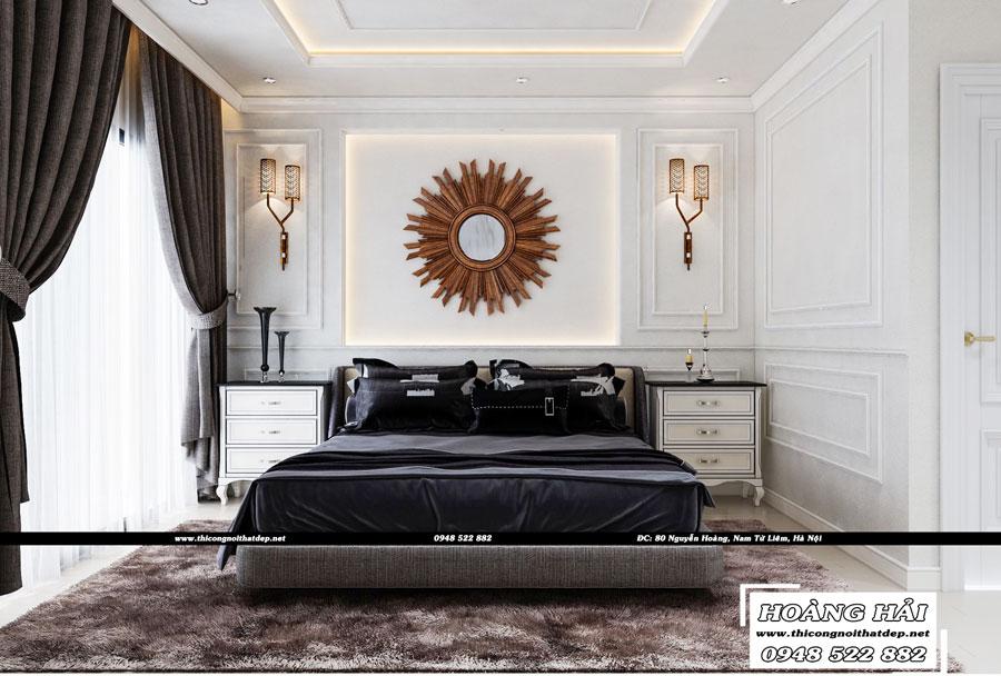 Dự án thiết kế nội thất phòng ngủ chung cư Cityland Park Hills 120m2