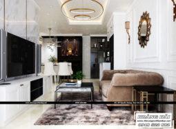 Thiết kế nội thất chung cư Cityland Park Hills 120m2 phong cách bán cổ điển