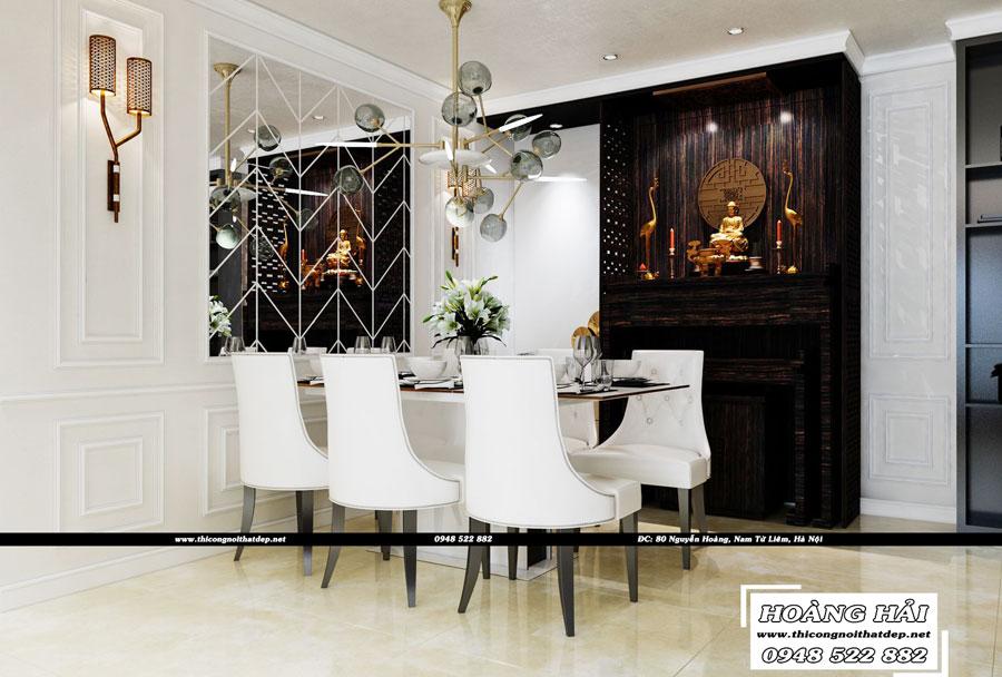 Dự án thiết kế nội thất phòng ăn chung cư Cityland Park Hills 120m2