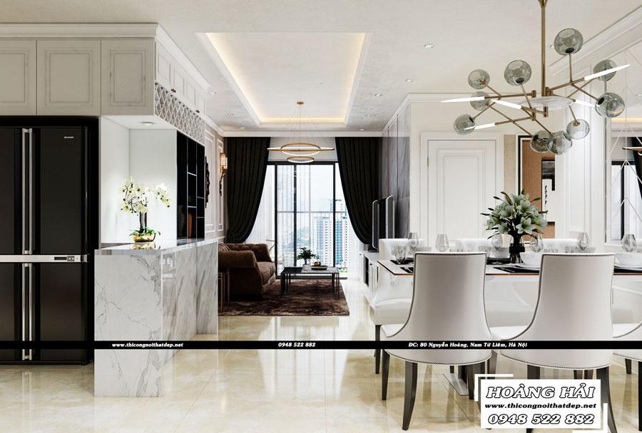 Dự án thiết kế nội thất phòng bếp - ăn chung cư Cityland Park Hills 120m2