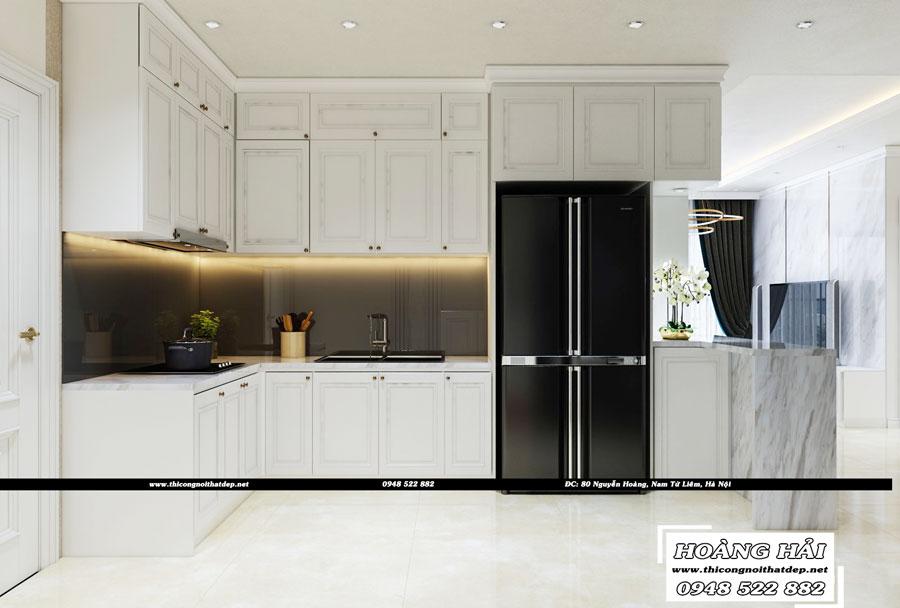 Dự án thiết kế nội thất phòng bếp chung cư Cityland Park Hills 120m2