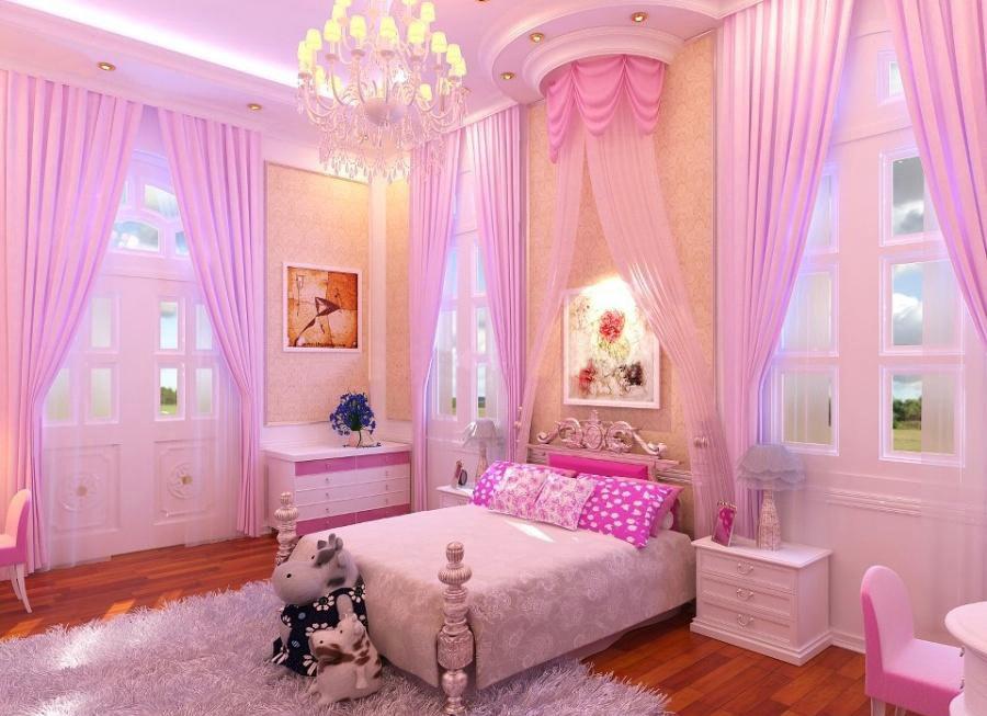 Nội thất phòng ngủ trẻ em phong cách nữ tính
