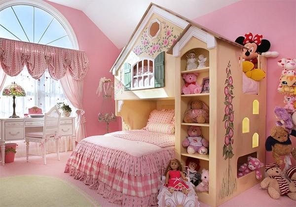 Nội thất phòng ngủ trẻ em phong cách búp bê
