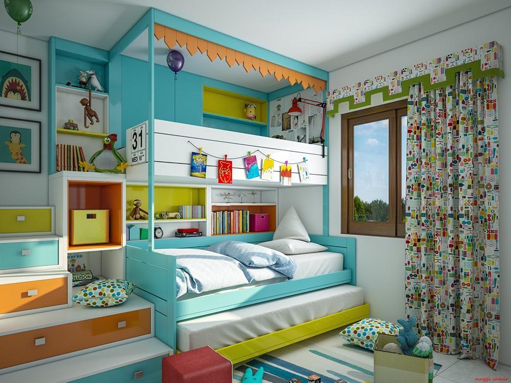 Nội thất phòng ngủ dành cho bé gái cá tính