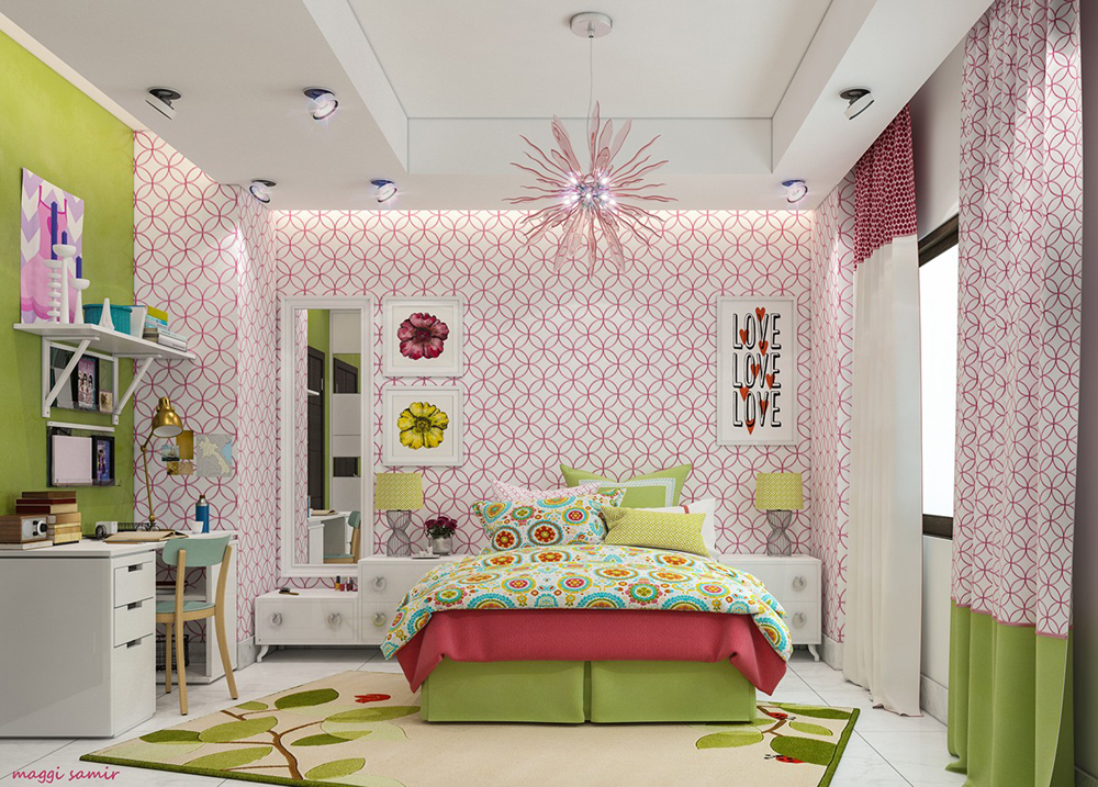 Nội thất phòng ngủ trẻ em nhiều màu sắc