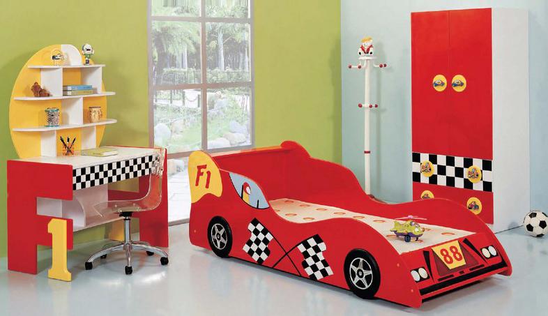 Nội thất phòng ngủ trẻ em kiểu ô tô