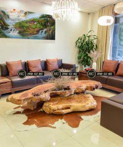 Sofa Phòng Khách Gỗ Óc Chó Mẫu 001