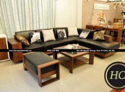 Sofa Phòng Khách Gỗ Óc Chó Mẫu 004