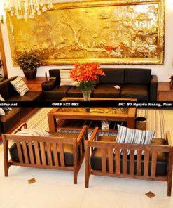Sofa Phòng Khách Gỗ Óc Chó Mẫu 005 Hình 1