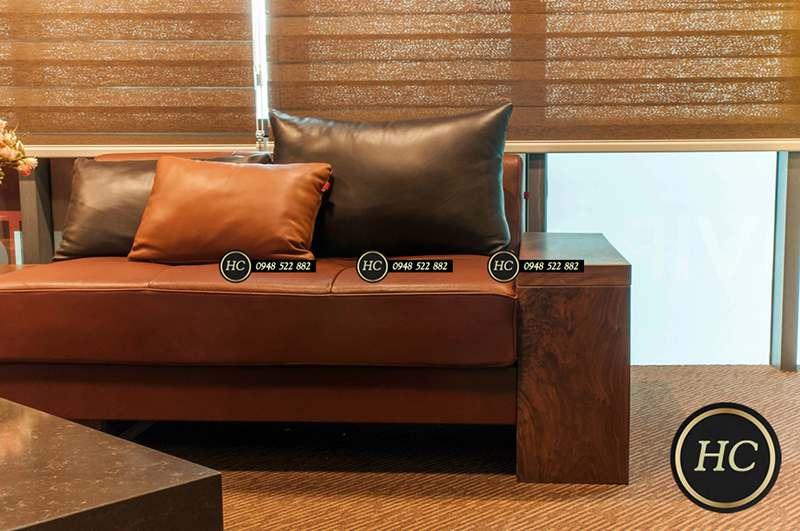 Sofa Phòng Khách Gỗ Óc Chó Mẫu 008 Hình 2