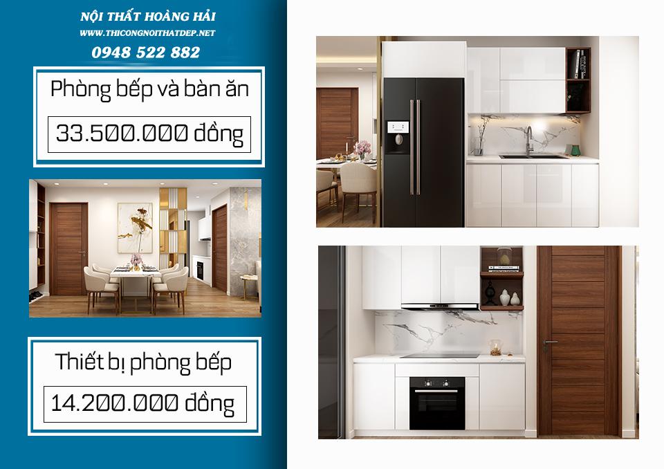 Thiết kế nội thất chung cư 150 triệu
