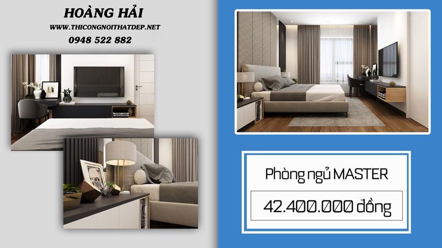 Thiết kế nội thất chung cư cho phòng ngủ