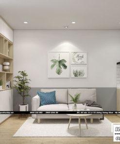 Dự án thiết kế nội thất phòng khách căn hộ chung cư Everrich Infinity 50m2 - Chị Hồng