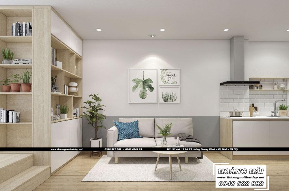 Dự án thiết kế nội thất căn hộ chung cư Everrich Infinity 50m2 – Chị Hồng