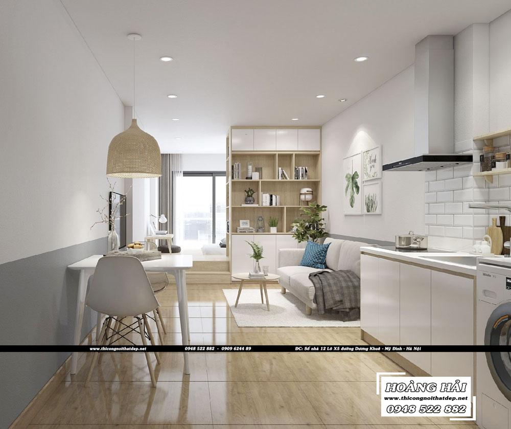 Dự án thiết kế nội thất phòng bếp ăn căn hộ chung cư Everrich Infinity 50m2 - Chị Hồng