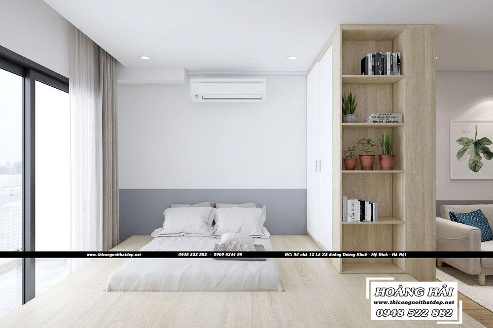 Dự án thiết kế nội thất phòng ngủ căn hộ chung cư Everrich Infinity 50m2 - Chị Hồng