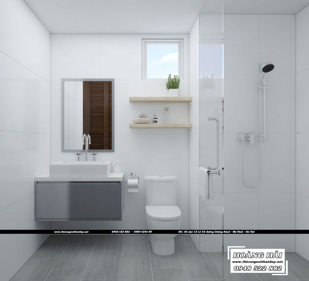 Dự án thiết kế nội thất phòng tắm - vệ sinh căn hộ chung cư Everrich Infinity 50m2 - Chị Hồng