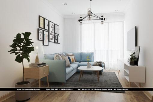 Thiết kế nội thất phòng ngủ conchung cư Goldseason 47