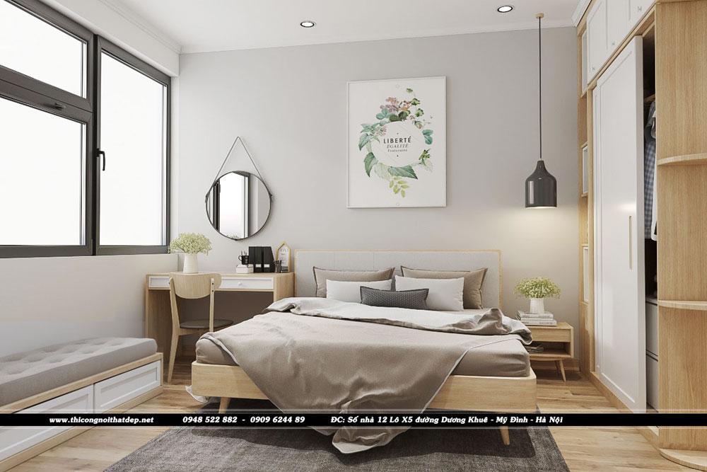 Thiết kế nội thất phòng ngủ masterchung cư Goldseason 47