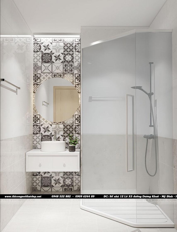 Thiết kế phòng wc phòng ngủ masterchung cư Goldseason 47