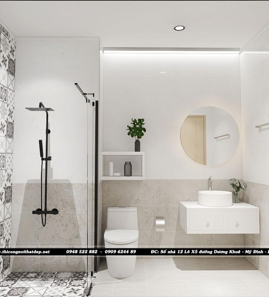 Thiết kế phòng wc chung cư Goldseason 47