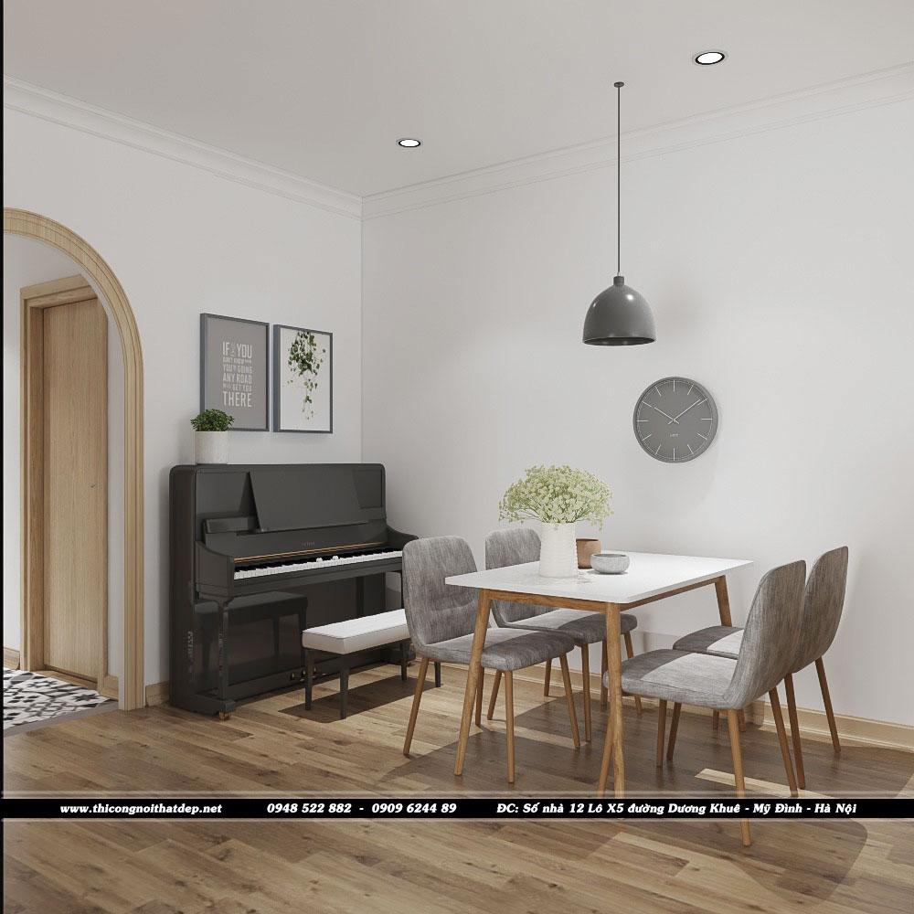 Thiết kế nội thất phòng ăn chung cư Goldseason 47